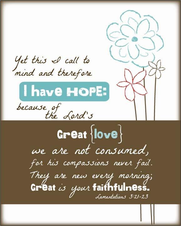 Lamentation 3:21-23